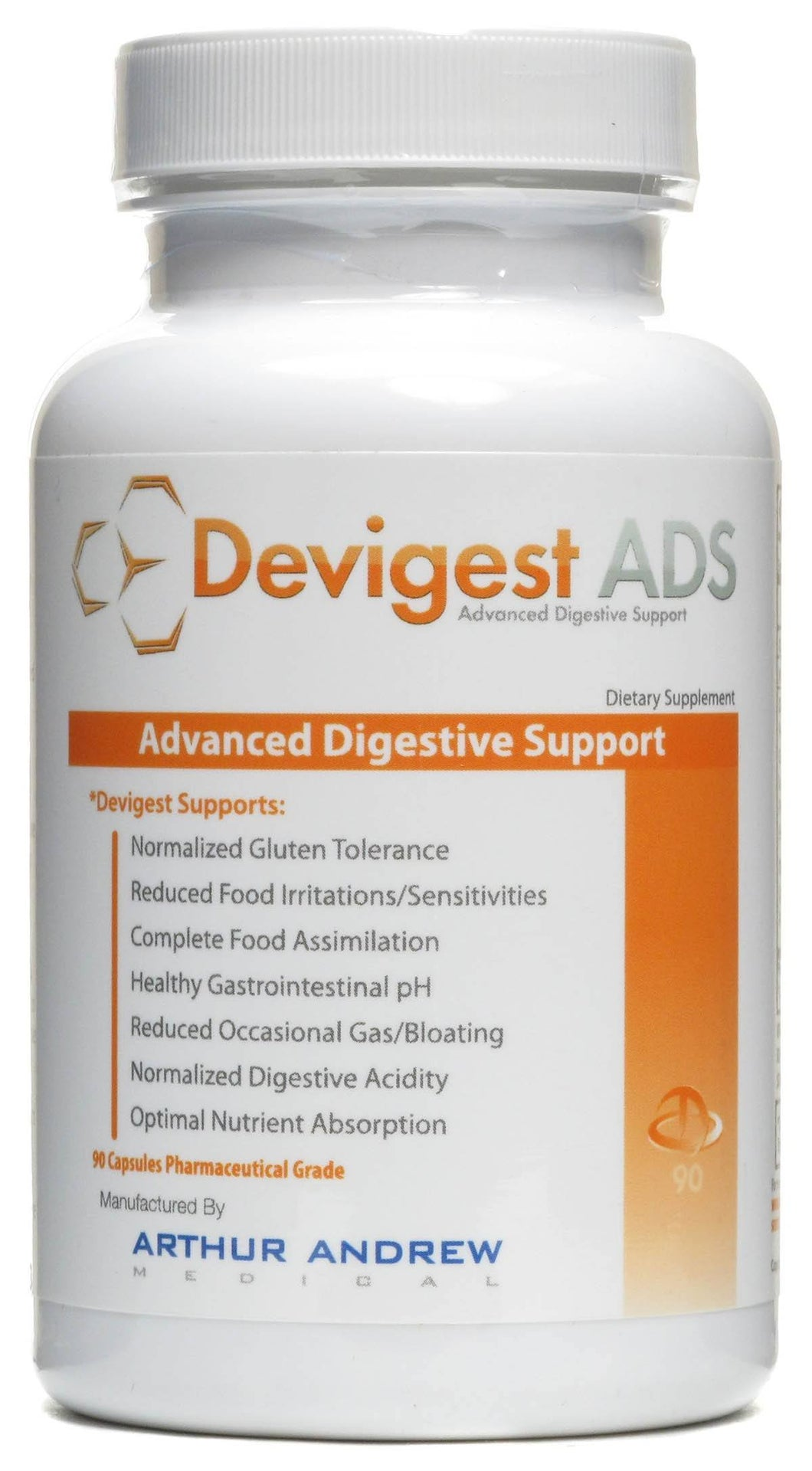 Dietary Supplement - Arthur Andrew Medical Devigest ADS 90 CAP