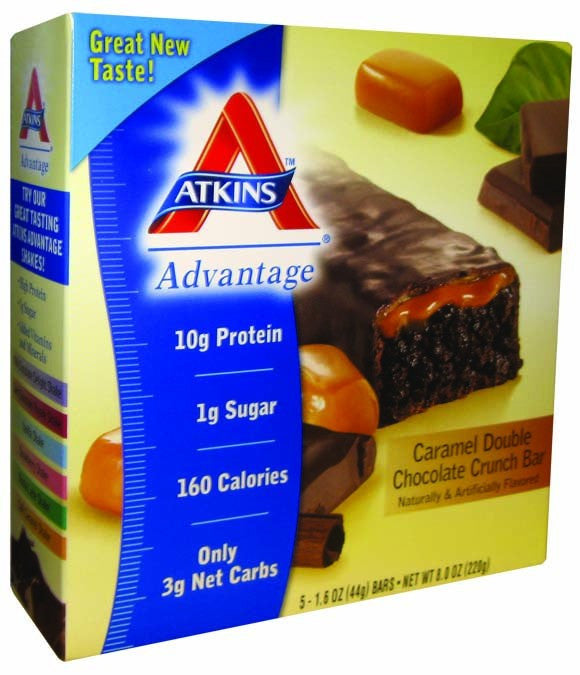 Dietary Supplement - Atkins Nutritionals Caramel Double Chocolate Crunch Bar 5/BOX