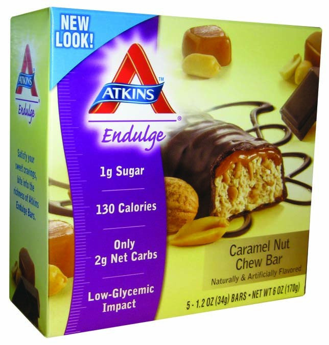 Dietary Supplement - Atkins Nutritionals Caramel Nut Chew Bar 5/BOX