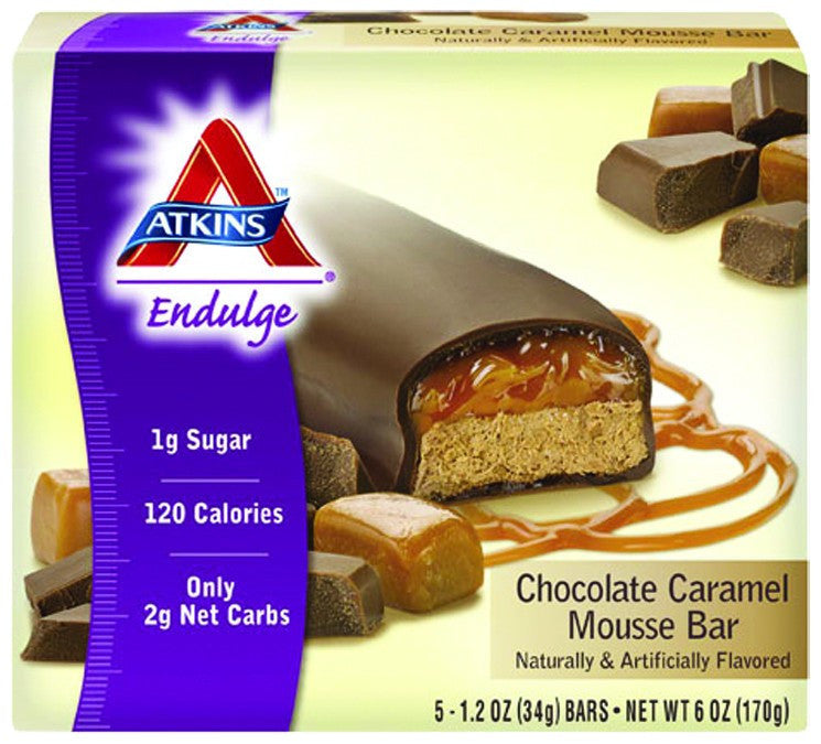 Dietary Supplement - Atkins Nutritionals Chocolate Caramel Mousse Bar 5/BOX