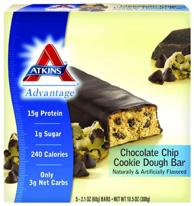 Dietary Supplement - Atkins Nutritionals Chocolate Chip Cookie Dough Bars