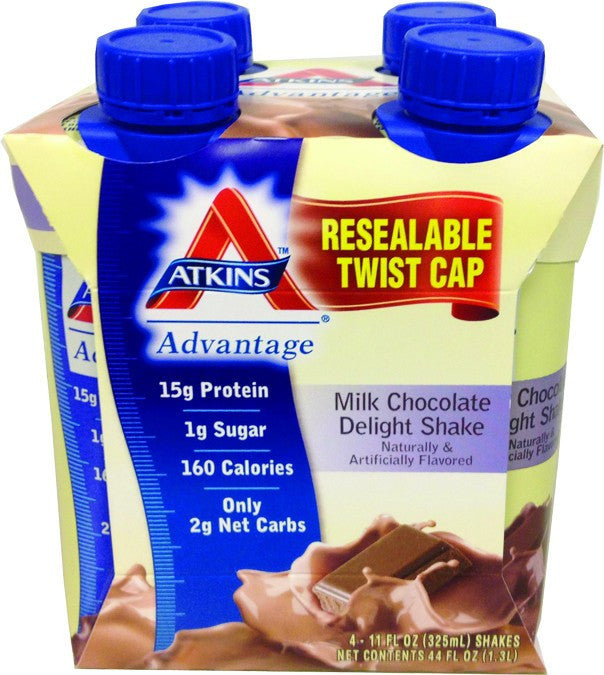 Dietary Supplement - Atkins Nutritionals Chocolate Delight Milk Shakes 4-Pack