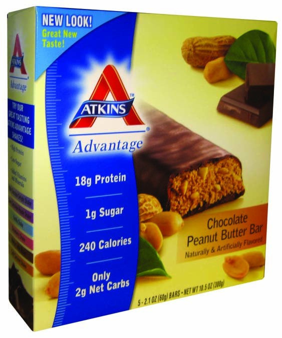 Dietary Supplement - Atkins Nutritionals Chocolate Peanut Butter Bar 5/BOX