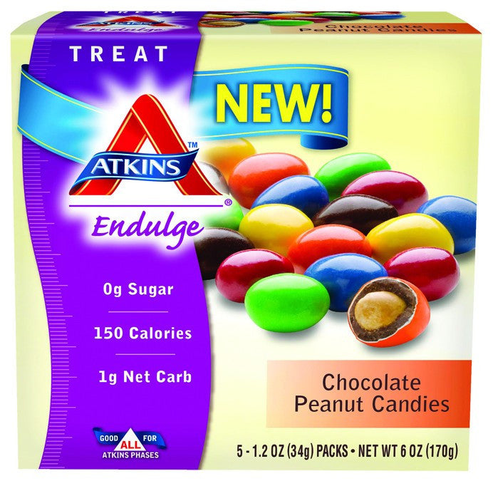 Dietary Supplement - Atkins Nutritionals Chocolate Peanut Candies 5/BOX