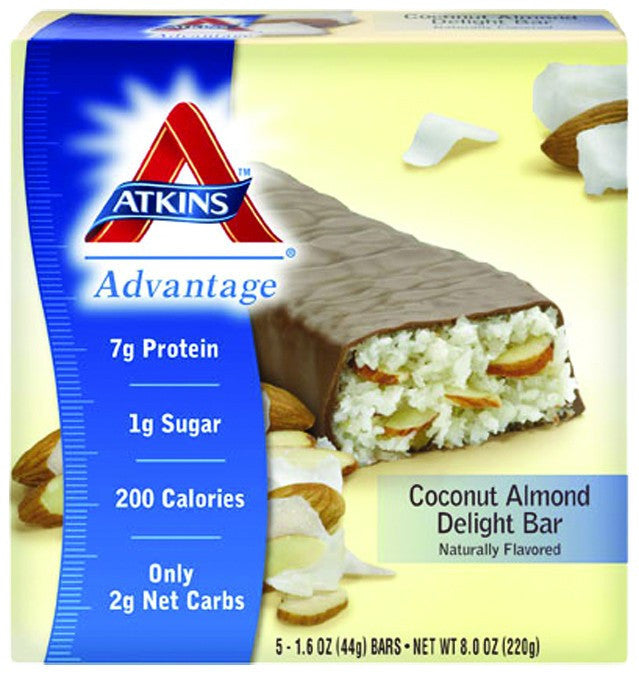 Dietary Supplement - Atkins Nutritionals Coconut Almond Delight Bars