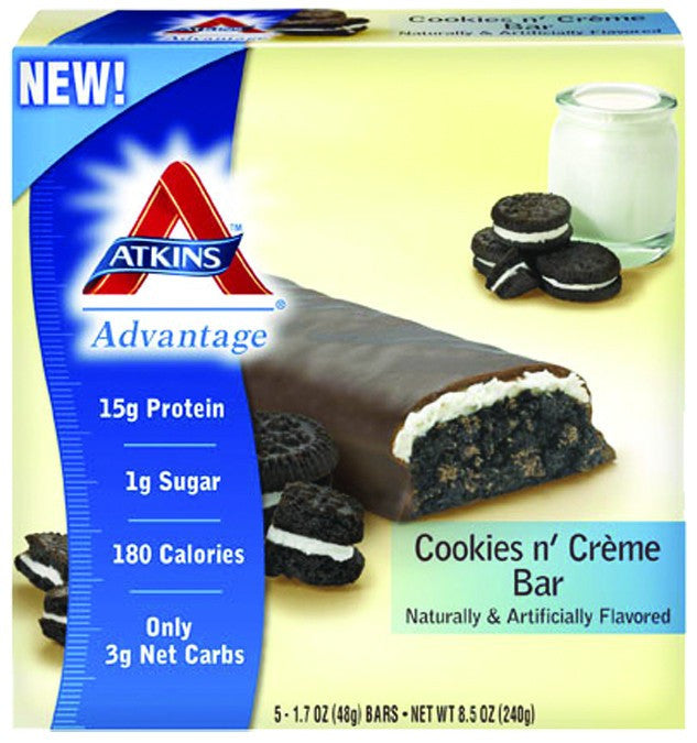 Dietary Supplement - Atkins Nutritionals Cookies N' Creme Bars