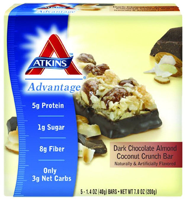 Dietary Supplement - Atkins Nutritionals Dark Choc Almond Coconut Crunch Bars5/BOX