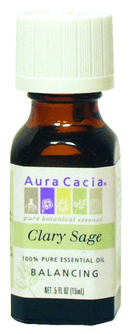 Dietary Supplement - Aura Cacia Clary Sage .5 OZ Balancing Essential Oil