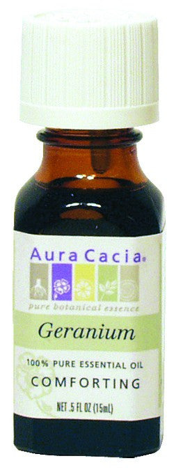 Dietary Supplement - Aura Cacia Geranium .5 OZ Comforting Essential Oil