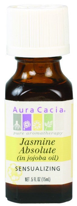 Dietary Supplement - Aura Cacia Jasmine In Jojoba Oil .5 OZ Sensualizing Oil