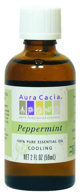Dietary Supplement - Aura Cacia Peppermint Natural 2 OZ Cooling Essential Oil