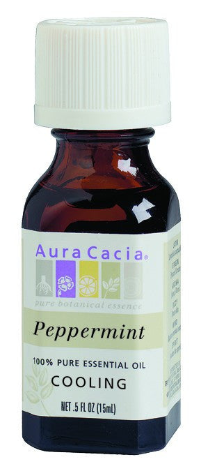 Dietary Supplement - Aura Cacia Peppermint Natural .5 OZ Cooling Essential Oil