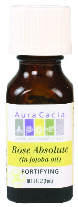 Dietary Supplement - Aura Cacia Rose Absolute Fortifying Oil In Jojoba .5 OZ