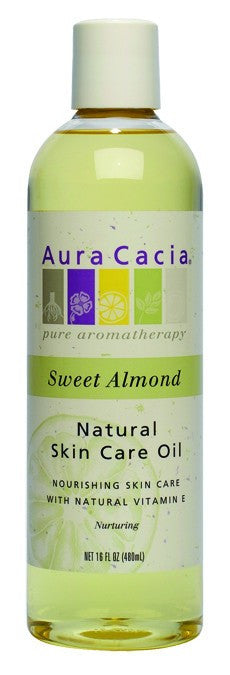 Dietary Supplement - Aura Cacia Sweet Almond Nurturing Skin Oil 16 OZ
