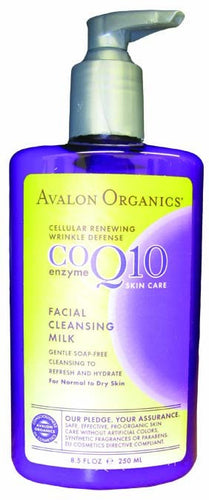 Dietary Supplement - Avalon Naturals CoQ 10 Facial Cleansing Milk 8.5 OZ