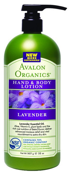 Dietary Supplement - Avalon Naturals Lav Hand & Body Lotion Value Size 32 OZ