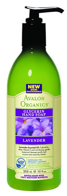 Dietary Supplement - Avalon Naturals Lavender Glycerine Hand Soap 12 OZ