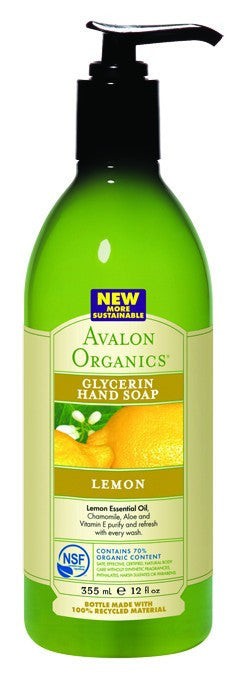Dietary Supplement - Avalon Naturals Lemon Glycerine Hand Soap 12 OZ