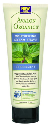 Dietary Supplement - Avalon Naturals Peppermint Cream Shave 8 OZ