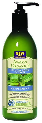 Dietary Supplement - Avalon Naturals Peppermint Lotion 12 OZ