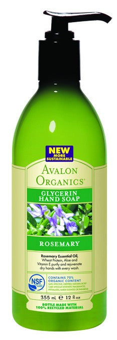 Dietary Supplement - Avalon Naturals Rosemary Glycerin Hand Soap 12 OZ