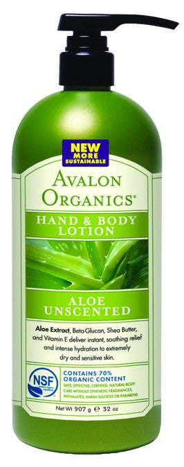 Dietary Supplement - Avalon Naturals Unscented Hand & Body Lot Value Size 32 OZ