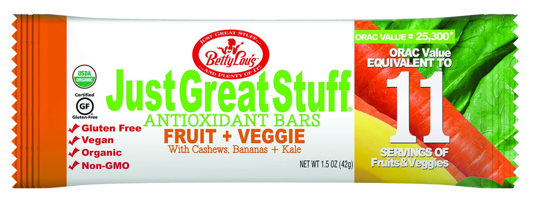 Dietary Supplement - Betty Lou's Just Great Stuff Fruit + Veggie Bar