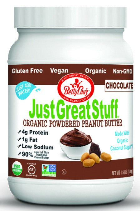 Dietary Supplement - Betty Lou's Organic Chocolate Powdered Peanut Butter 1.5 LB