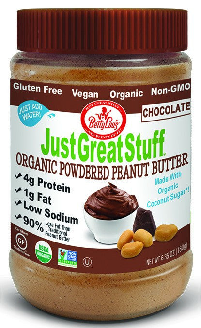 Dietary Supplement - Betty Lou's Organic Chocolate Powdered Peanut Butter 6.35 OZ