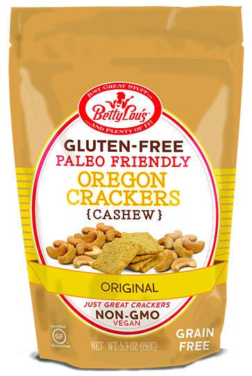 Dietary Supplement - Betty Lou's Paleo Cashew Crackers Original 5.3 OZ
