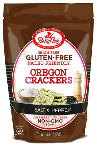 Dietary Supplement - Betty Lou's Paleo Salt & Pepper Oregon Crackers 5.3 OZ