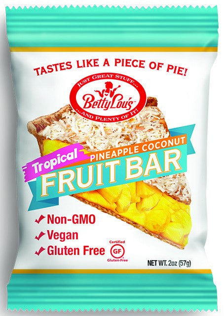 Dietary Supplement - Betty Lou's Trop Pineapple Coconut Fruit Bars