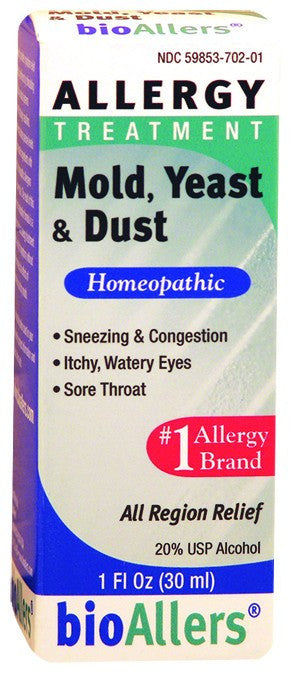 Dietary Supplement - BioAllers Mold, Yeast & Dust Allergy Treatment 1 OZ