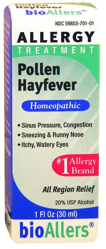 Dietary Supplement - BioAllers Pollen/Hayfever Allergy Treatment 1 OZ