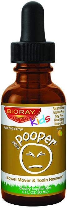 Dietary Supplement - Bioray Kids NDF Pooper Bowel Mover & Detox Liquid Herbal Drops 2 OZ