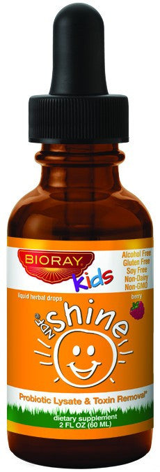 Dietary Supplement - Bioray Kids Shine Liquid Probiotic Herbal Drops 2 OZ