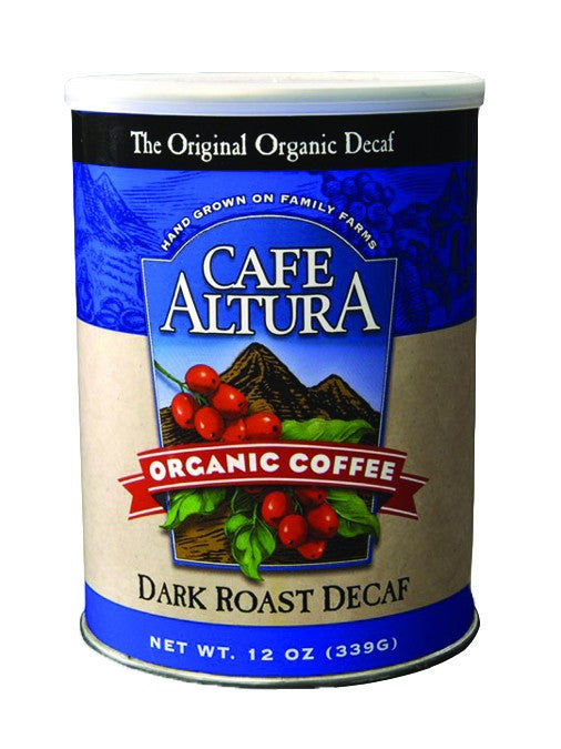 Dietary Supplement - Cafe Altura Dark Roast Decaf Ground Coffee 12 OZ