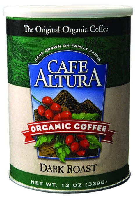 Dietary Supplement - Cafe Altura Dark Roast Ground Coffee 12 OZ