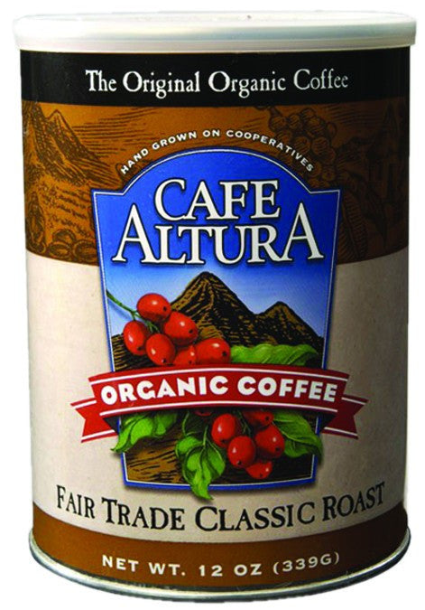 Dietary Supplement - Cafe Altura Fair Trade Classic Roast Ground Coffee 12 OZ