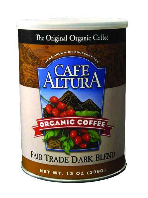Dietary Supplement - Cafe Altura Fair Trade Dark Blend Roast Ground Coffee 12 OZ