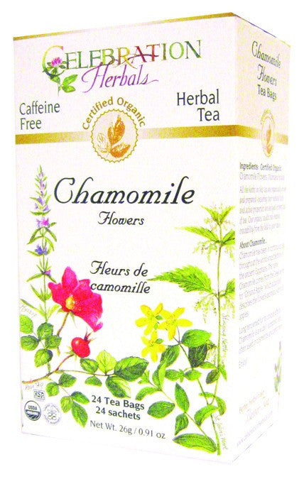 Dietary Supplement - Celebration Herbals Chamomile Flowers Tea Organic 24 BAG