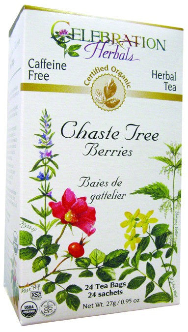 Dietary Supplement - Celebration Herbals Chaste Tree Berries Tea Organic 24 BAG