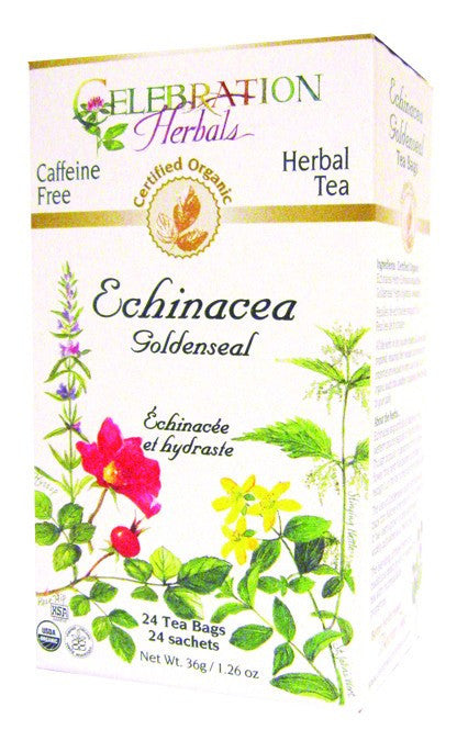 Dietary Supplement - Celebration Herbals Echinacea Goldenseal Organic 24 BAG