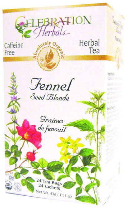 Dietary Supplement - Celebration Herbals Fennel Seed Blonde Tea Organic 24 BAG