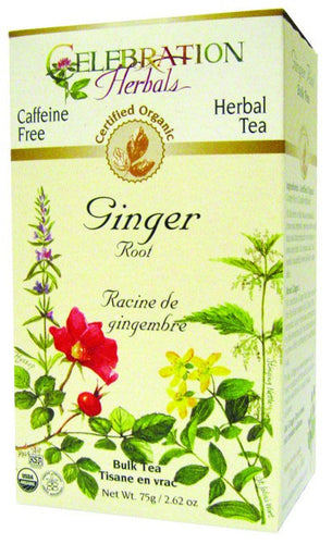 Dietary Supplement - Celebration Herbals Ginger Root Caffeine Free Organic Tea 75 GM