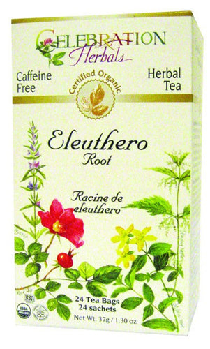 Dietary Supplement - Celebration Herbals Ginseng Eleuthero Root Tea Organic 24 BAG