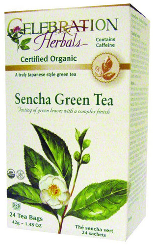 Dietary Supplement - Celebration Herbals Green Tea Sencha Organic 24 Bag