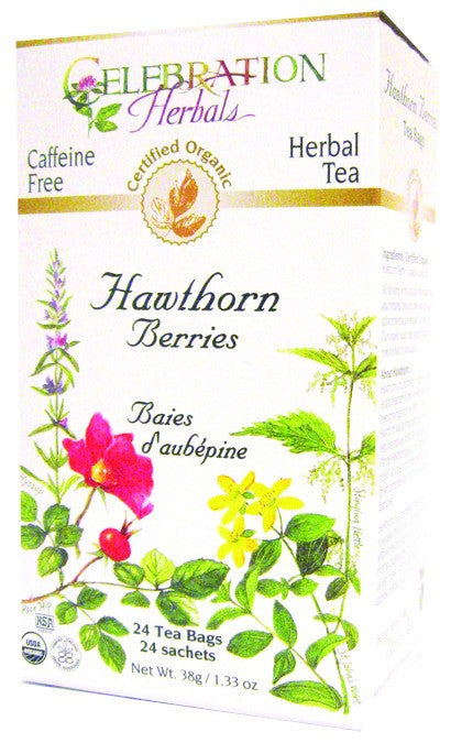 Dietary Supplement - Celebration Herbals Hawthorn Berries Tea Organic 24 BAG