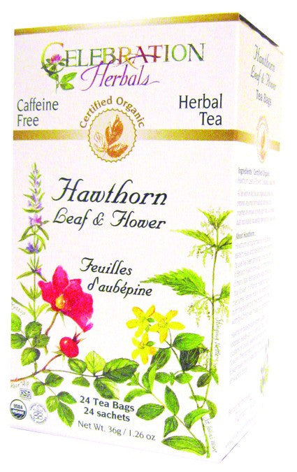 Dietary Supplement - Celebration Herbals Hawthorn Leaf & Flower Organic 24 BAG