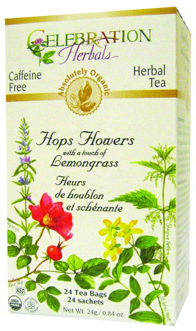 Dietary Supplement - Celebration Herbals Hops Flowers Organic 24 BAG